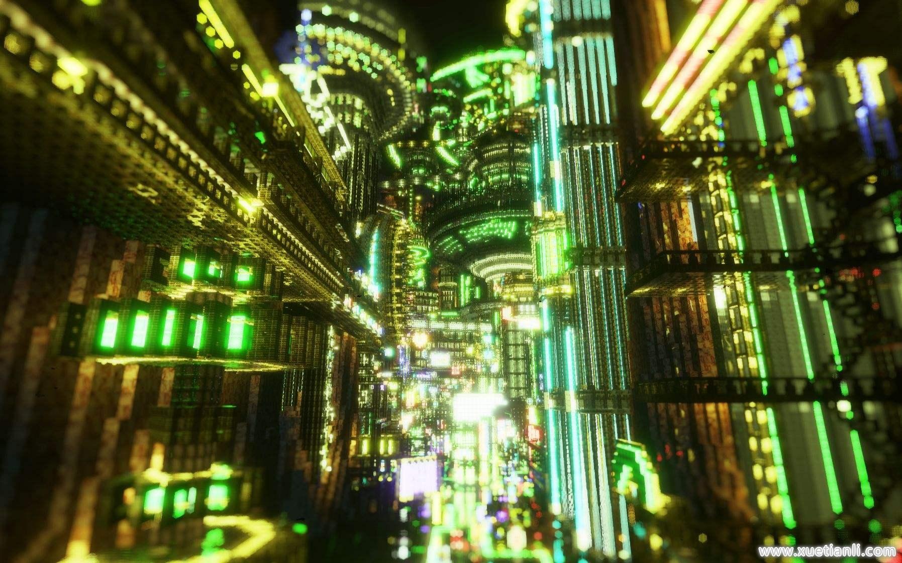 我的世界硬派赛博朋克城市